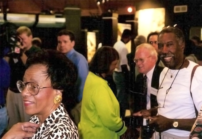 Beverly-Owens-Prather-(left)-being-interviewed-by-The-Birmingham-News-as-Marlene-Owens-Rankin-(center)-and-Malcolm-Hemphill-(right)-enjoy-the-museum-dedication