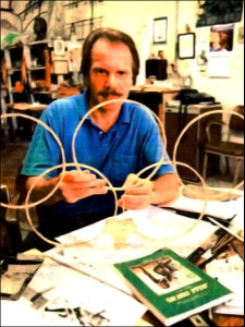 Brando Medenica with his design ideas in his studio in Birmingham, Alabama.